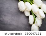 Flowers White Tulips On The...