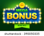 retro sign with lamp mega bonus ... | Shutterstock .eps vector #390050335