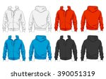 vector set of clothes template... | Shutterstock .eps vector #390051319