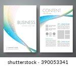 modern flyers brochure cover... | Shutterstock .eps vector #390053341