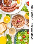 brunch party. assortment of... | Shutterstock . vector #390067489