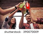young people in casual clothes... | Shutterstock . vector #390070009