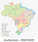 vegetation map of brazil | Shutterstock .eps vector #390070039