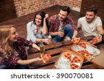 young people in casual clothes... | Shutterstock . vector #390070081