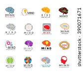 Stock vector mind icons set isolated on white background vector illustration graphic design for web 390071671