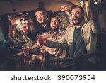 cheerful old friends having fun ... | Shutterstock . vector #390073954