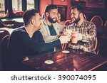 cheerful old friends having fun ... | Shutterstock . vector #390074095