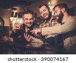 cheerful old friends having fun ... | Shutterstock . vector #390074167