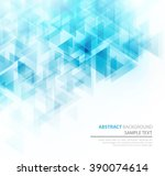 blue shiny triangle shapes... | Shutterstock . vector #390074614