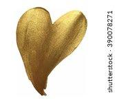 golden smear vector brush...   Shutterstock .eps vector #390078271