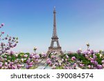 eiffel tower  and paris... | Shutterstock . vector #390084574