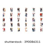 business picture standing... | Shutterstock . vector #390086311
