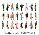 isolated concept buying things  | Shutterstock . vector #390090541