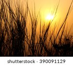 shilouetted against the morning ... | Shutterstock . vector #390091129