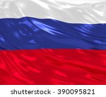 russia flag on white background | Shutterstock . vector #390095821