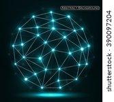abstract polygonal sphere ... | Shutterstock .eps vector #390097204