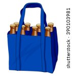 Blue Shopping Bag With Eight...