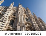 milan cathedral  duomo di... | Shutterstock . vector #390105271