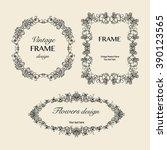 vintage floral frames... | Shutterstock .eps vector #390123565