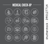 modern line symbols of medicine ... | Shutterstock .eps vector #390127714