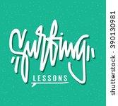 poster  bunner  hand lattering  ... | Shutterstock .eps vector #390130981