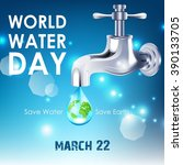 background of world water day... | Shutterstock .eps vector #390133705