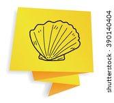 shell doodle | Shutterstock .eps vector #390140404