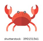 Cartoon Crab Funny Vector...