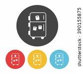 refrigerator icon | Shutterstock .eps vector #390155875