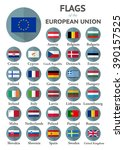 flags of the european union | Shutterstock . vector #390157525