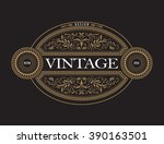 antique frame vintage border... | Shutterstock .eps vector #390163501