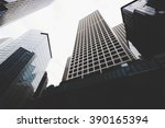 cityscape view with business... | Shutterstock . vector #390165394