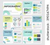set of infographic presentation ... | Shutterstock .eps vector #390167494