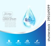 save water vector concept let's ... | Shutterstock .eps vector #390169099