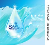 save water vector concept let's ... | Shutterstock .eps vector #390169117