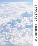cloudscape blue sky and white... | Shutterstock . vector #390173239