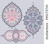 set of beautiful indian ethnic... | Shutterstock .eps vector #390175741