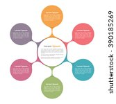 circle diagram with six...   Shutterstock .eps vector #390185269
