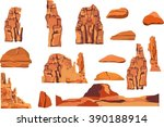 Rocks Vector Illustration Set ...
