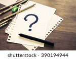 what's your story  question... | Shutterstock . vector #390194944