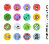 sport icons   Shutterstock .eps vector #390195199