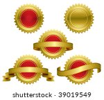 medallions  scrolls  ribbons  ... | Shutterstock .eps vector #39019549