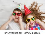 new years 2016 party. funny... | Shutterstock . vector #390211831