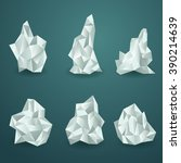 set of irregular geometric... | Shutterstock .eps vector #390214639