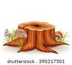 Illustration Of Tree Stump And...
