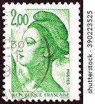 france   circa 1982  a stamp... | Shutterstock . vector #390223525