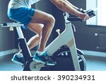 best cardio workout. side view... | Shutterstock . vector #390234931