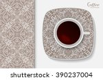 cup of coffee with geometric... | Shutterstock .eps vector #390237004