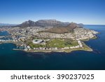 aerial of capetown south africa | Shutterstock . vector #390237025