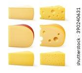 vector set of triangular pieces ... | Shutterstock .eps vector #390240631